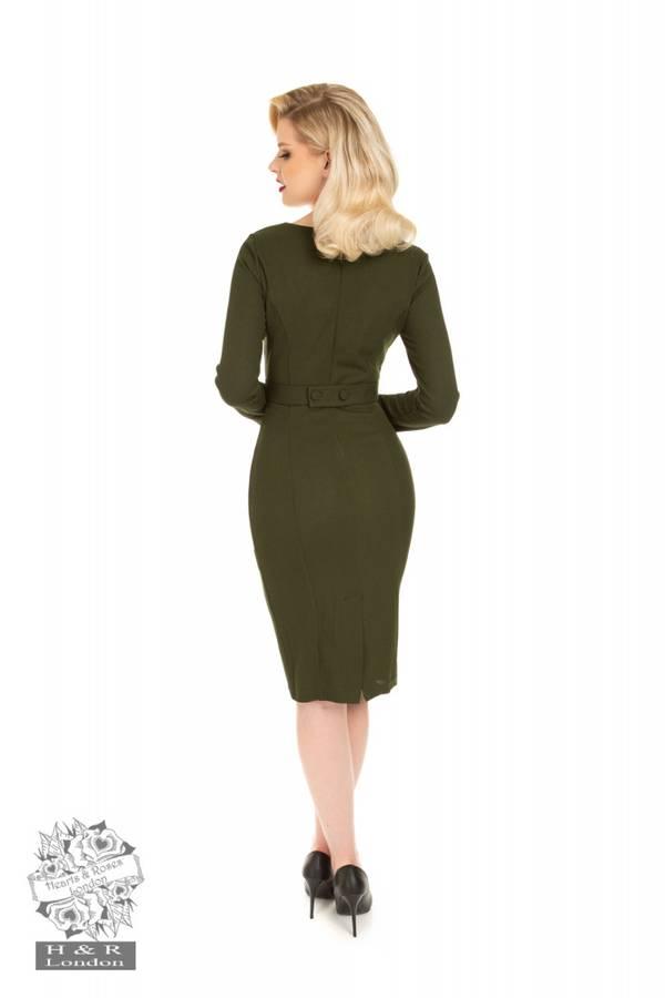 H&R innsvingt kjole Cassia, Grønn